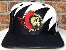 VINTAGE 90's OTTAWA SENATORS NHL LOGO/ATHLETIC SHARKTOOTH SNAPBACK HAT RARE!