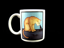 Cat and Sphinx Statue Mug Crazy Cat Lady Cup