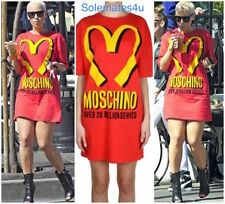 Moschino Couture X Jeremy Scott McDonalds Fast Food Cotton Jersey Tshirt Dress M