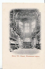 London Postcard - Henry VII Chapel - Westminster Abbey    BH1156