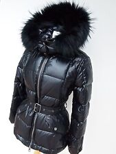 BNWT--BURBERRY  STUNNING FITTED FUR HOOD PUFFA/SKI/COAT/PARKA/ JACKET--UK SMALL