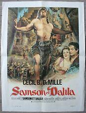 SAMSON ET DALILA Affiche Cinéma / Movie Poster Cecil B. DeMille 60x40