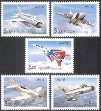 Rusia 2005 Militar Aviación/Aviones/Avión/transporte/vuelo Set 5v (n15511)