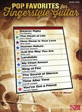 Pop Favorites For Fingerstyle Guitar Play Beatles Monkees TAB Music Book