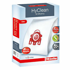 Miele Genuine S6210 S6220 FJM Hyclean Hoover Bags Cat & Dog x 4 Pack + Filters