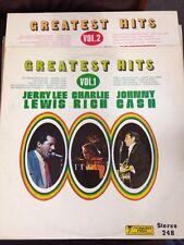 VTG LP's JERRY LEE LEWIS CHARLIE RICH JOHNNY CASH Vol. 1-2 EUC Greatest Hits