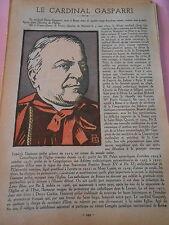 Le Cardinal Gasparri portrait article Print 1934