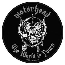 OFFICIAL LICENSED - MOTORHEAD - THE WORLD IS YOURS SEW ON PATCH METAL LEMMY