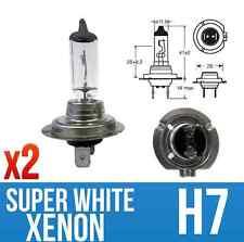 """XENON Super Bianco H7 Aggiornamento Lampadine COPPIA """"e"""" approvato 12v 55w 477 / 499"""