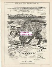 1905 Punch Cartoon Scapegoat Macdonnell Revelations