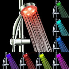 Handheld 7Color LED Romantic Light Water Bath Home Bathroom Shower Head Glow O