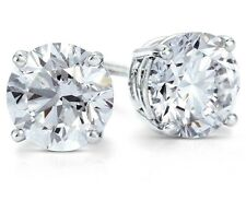 1 ct. White Sapphire Round Stud Earrings ~ Solid Sterling Silver ~ Gift box