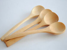 6X Wooden Scoop Teaspoon Coffee Kitchen Cooking Condiment Utensil Catering Spoon
