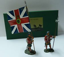 Frontline Figures, Indian Wars, 42rd Highlanders, Offiziere mit Flagge , IBW4A