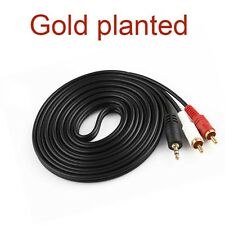 gold 3.5mm To 2 RCA Audio Y Adapter Speaker Cable For Superpad Flytouch Tablet
