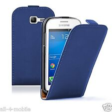 Ultra Slim BLUE Leather Case cover for Samsung Galaxy Star Pro GT-S7262