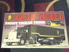 VINTAGE KNIGHT RIDER KNIGHT TRAILER TRUCK 1/28 SCALE MODEL KIT JAPAN PLEASE READ