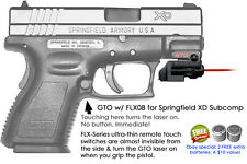 ArmaLaser GTO for Springfield XD Subcompact RED Laser Sight w/ FLX08 Grip On/Off