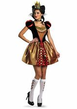 Womens Sexy Red Queen Alice in Wonderland Costume size Medium 8-10 (with defect)