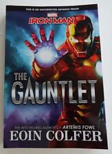 NEW SIGNED EOIN COLFER  Marvel  IRONMAN  The Gauntlet  ARC  UNCORRECTED PROOF