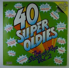 "2x12"" LP - Various - 40 Super Oldies - The Story Of Pop Vol. 2 - k6159"
