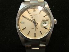 MEN'S VINTAGE ROLEX OYSTER-DATE PRECISION STAINLESS STEEL WRISTWATCH  *