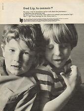 Publicité Advertising 1965  Montre  fred Lip