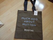 NEW Booths Collector's Edition Cloth Tote Shopping bag 'Much Ado About Mutton'