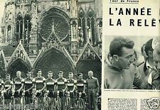 Coupure de Presse Clipping 1956 (4 pages) Tour de France Charly Gaul