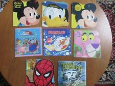 Vintage 8 Golden Books Shapes Disney Spiderman Transformers Heathcliff