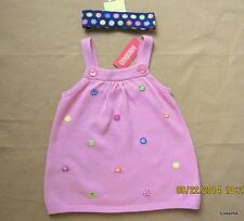 Gymboree Candy Shoppe Pink Sweater Tank Top Blue Heaband Set 6 NWT New