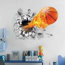 3D Basketball Sport Removable Wall Art Decal Vinyl Sticker Mural Decor