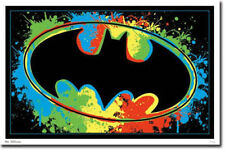 BATMAN LOGO - BLACKLIGHT POSTER - 24X36 FLOCKED DC COMICS 5911