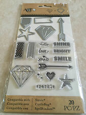 Momenta Art-C Clear Stamp and Die Set Diamonds Arrow Star 25886 NEW