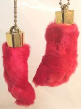 2 x Real Amulette Rabbit Foot Lucky Keychain 2 x Vraie Patte de Lapin Chanceuse