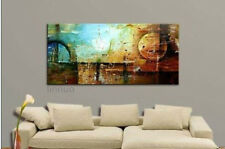 HUGE OIL PAINTING MODERN ABSTRACT WALL DECOR ART CANVAS (no frame)