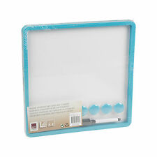 30cm x 30cm Magnetic Dry Wipe Whiteboard Coloured Frame + Marker Eraser & Magnet