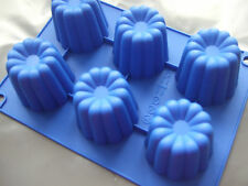 Silicone Mould 6 Cup Dessert/Sponge Pudding/Cake Tin