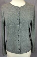 Ann Taylor 100% 2-ply Gary Cashmere Cardigan Sweater Women's SZ Large