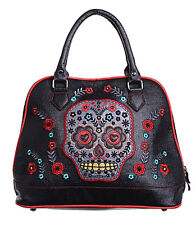 Sugar Skull Bag, Banned Large Embroidered Colourful, Day of the Dead