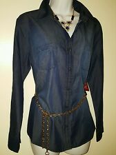 NWT FADED GLORY WOMEN'S DK DEMIN BLUE SHIRT  SIZE  XLARGE
