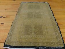 "Antique 1930-1939s 1'6""×2'10"" Natural  Dyes  Turkish Ushak Cushion Cover Rug"