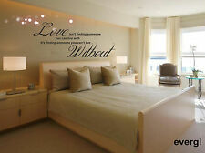 Love Without Quote Words Wall Sticker Decal Mural Art Decor
