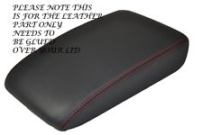 RED STITCH FITS VW GOLF MK7 VII 2013+ ANTHRACITE DARK GREY LEATHER ARMREST COVER