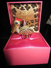 BETSEY JOHNSON IVY PELICAN STRETCH RING SIZE 7