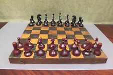 Vintage 1940-50s USSR СССР Soviet CHESS Set with board, very rare