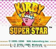 Kirby Super Star - Rare SNES Super Nintendo Game
