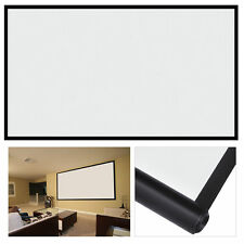 UK 100'' inch 16:9 Fabric Matte Projector Projection Screen Home Theater Screen