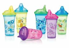 1 NEW Nuby Sippy Cup No Spill - Pick Your Colors! PRINTED CUPS - 2-PK Set