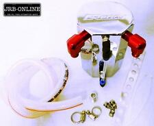 GREDDY STYLED OIL CATCH CAN COOLANT OVER FLOW- POLISHED BILLET ALLOY, DRIFT DRAG